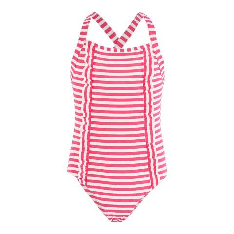 Petit Bateau Kid's Girl's Pink/White Swimsuit