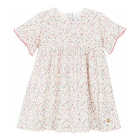 Petit Bateau Baby Girl's White/Pink Print Dress