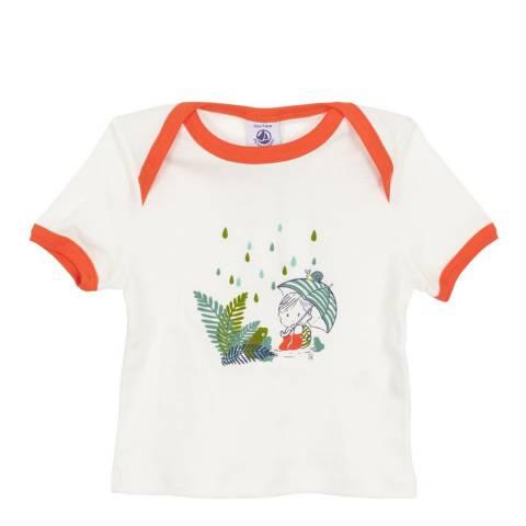 Petit Bateau Baby Boy's White T Shirt