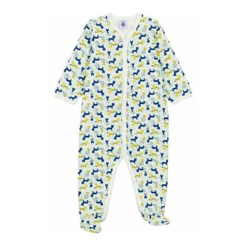 Petit Bateau Baby Boy's Multi Fleece Sleepsuit