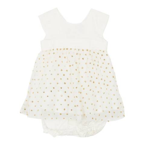 Petit Bateau Baby Girl's White Dress