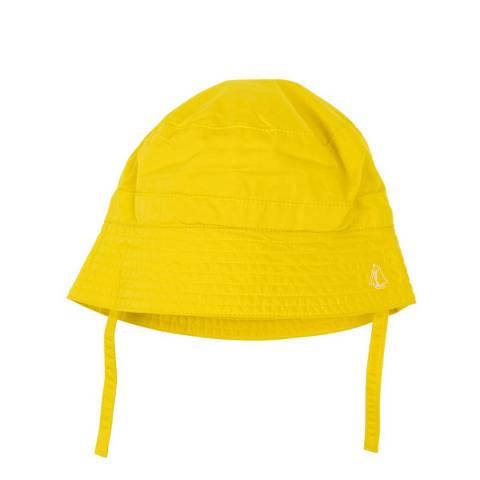 Petit Bateau Baby Unisex Yellow Wide Brimmed Hat