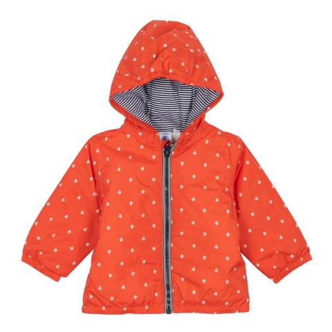 Petit Bateau Baby Unisex Red Fleece Lined Jacket