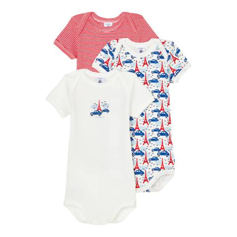 Petit Bateau Baby Boy's Multi Short Sleeved Bodysuit Set