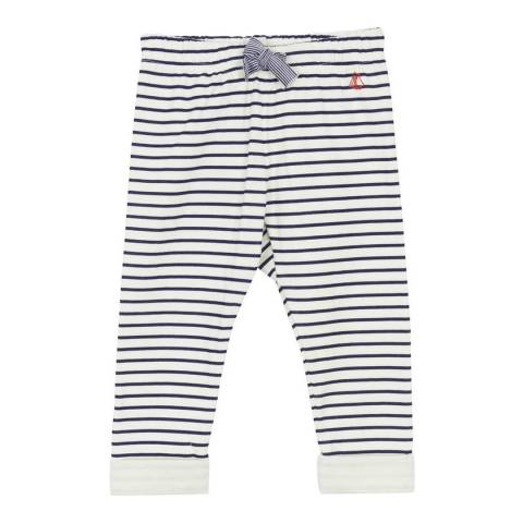 Petit Bateau Baby Boy's White/Black Striped Trousers