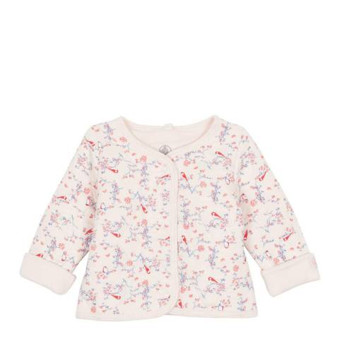 Petit Bateau Baby Girl's Pink Quilted Cardigan