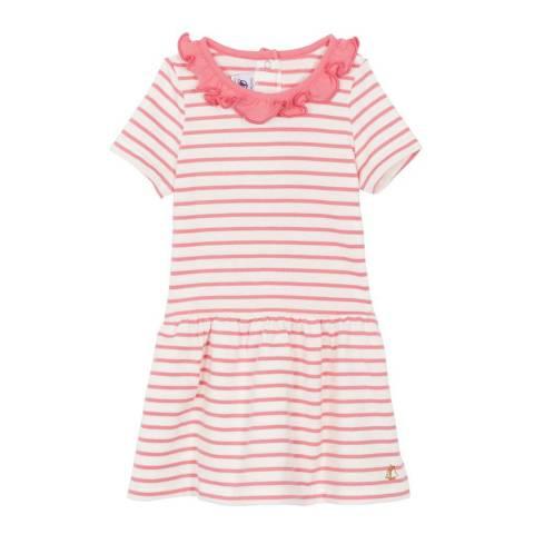 Petit Bateau Baby Girl's White/Pink Striped Dress