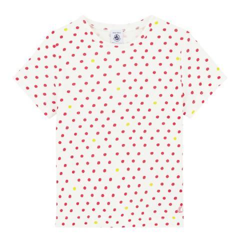 Petit Bateau Kid's Girl's White Short Sleeved T Shirt