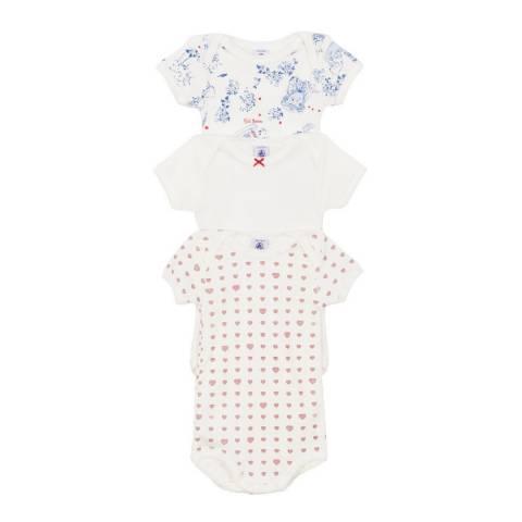 Petit Bateau Baby Girl's White Bodysuit Set