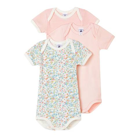 Petit Bateau Baby Girl's Multi Pastel Bodysuit Set