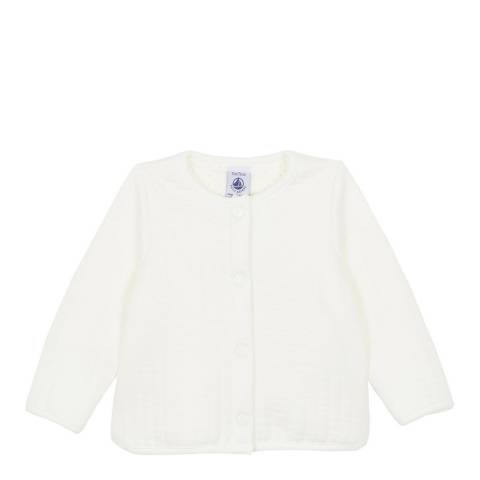 Petit Bateau Baby Girl's White Quilted Cardigan