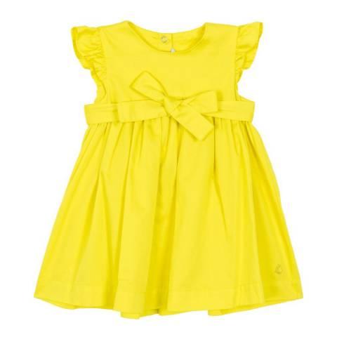 Petit Bateau Baby Girl's Yellow Satin Dress