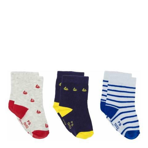 Petit Bateau Baby Boy's Multi Sock Set