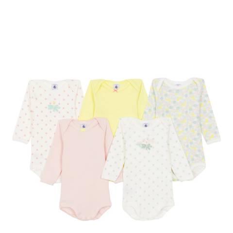 Petit Bateau Baby Girl's Multi Bodysuit Set