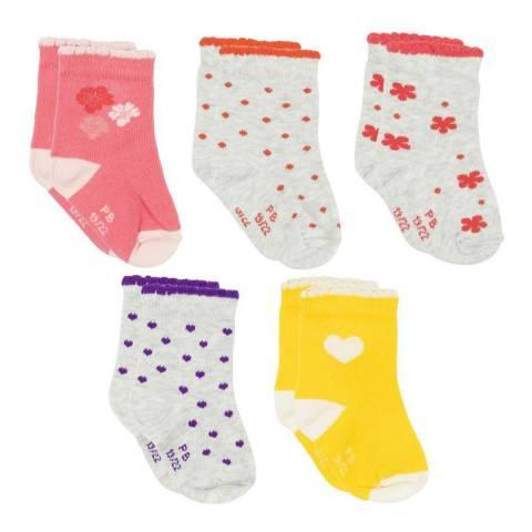 Petit Bateau Baby Girl's Multi Sock Set