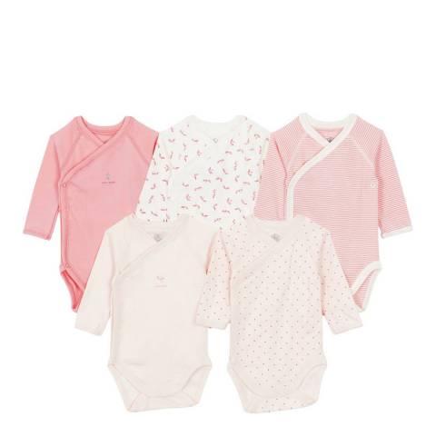 Petit Bateau Baby Girl's Pink Long Sleeved Bodysuit