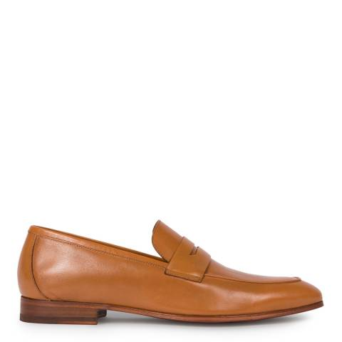 PAUL SMITH Tan Glynn Leather Loafers