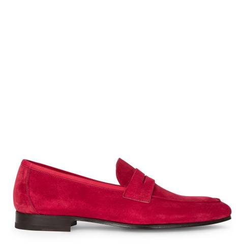 PAUL SMITH Red Glynn Suede Leather Loafers