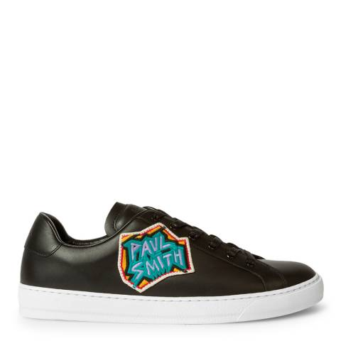 PAUL SMITH Black Patch Hansen Embroidered Sneakers