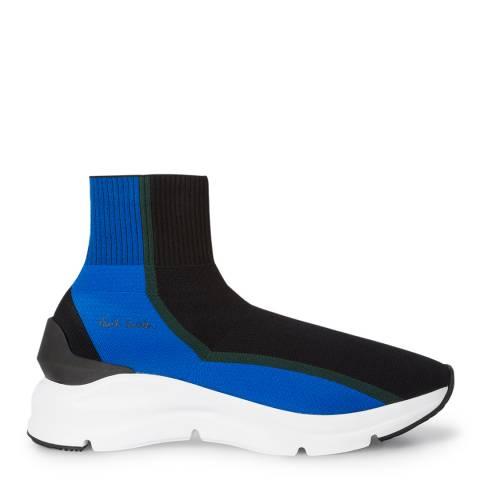 PAUL SMITH Black & Blue Sweem Sock Sneakers