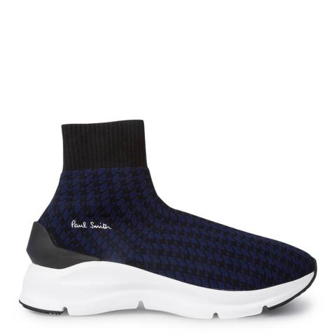 PAUL SMITH Blue Check Sweep Sock Sneakers