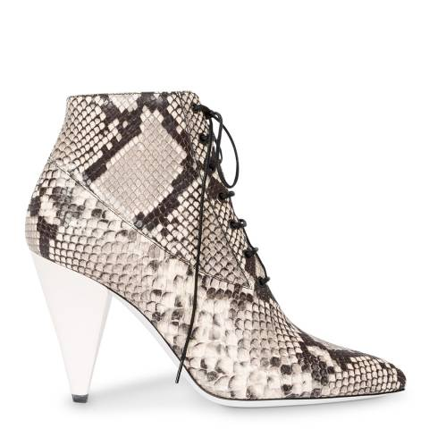 PAUL SMITH Snake Cyndi Leather Ankle Boots