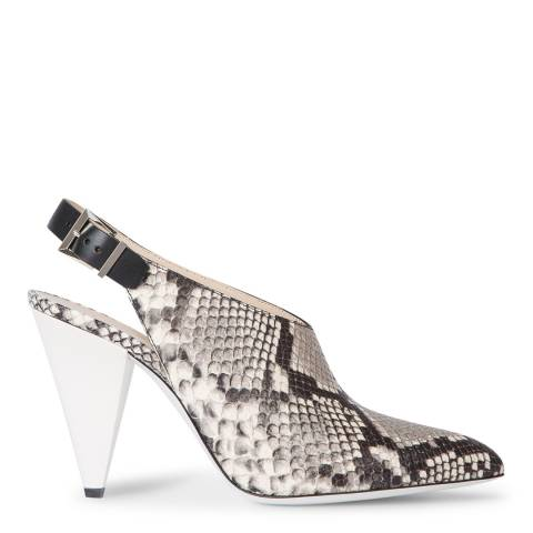 PAUL SMITH Snake Debbie Parchment Heeled Shoes