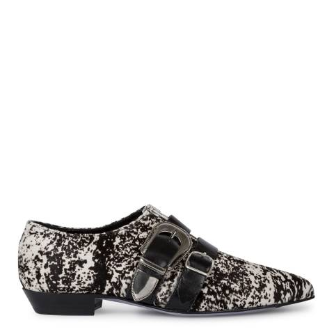 PAUL SMITH Black & White Wilde Parchment Ankle Boots