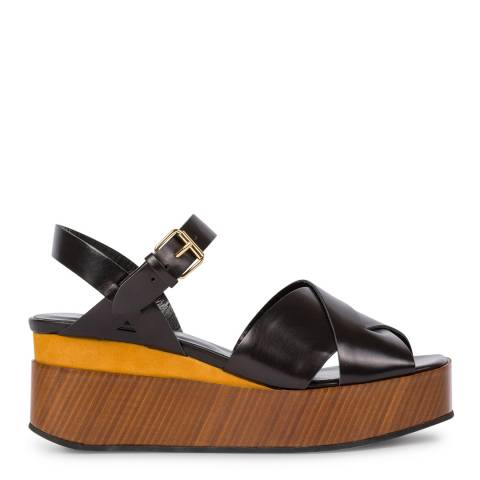 PAUL SMITH Black Marcia Wedge Sandals
