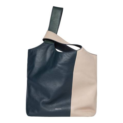 PAUL SMITH Nude, Green & Navy Hobo Bag