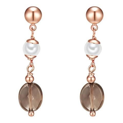 Kaimana Rose Gold/White Pearl Earrings