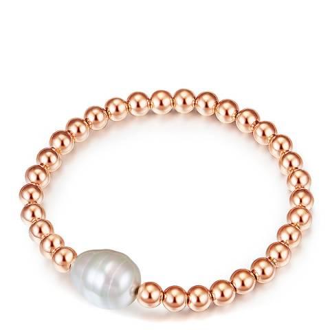 Kaimana Rose Gold/White Pearl Bracelet