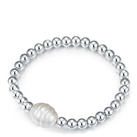 Kaimana Silver/White Pearl Bracelet