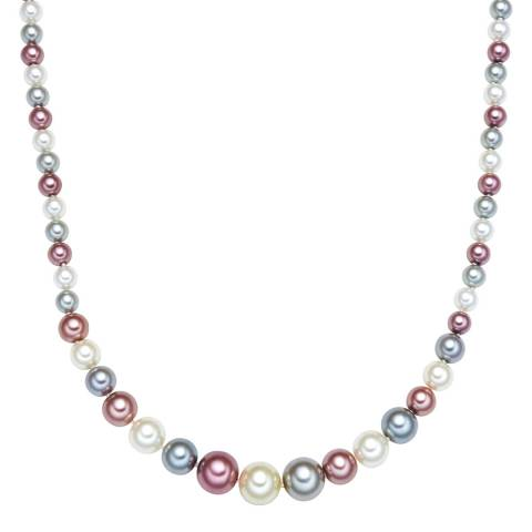 Kaimana Silver/White/Pink Pearl Necklace