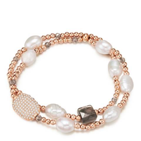Kaimana Rose Gold/White Freshwater Pearl Bracelet
