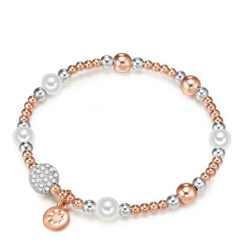 Kaimana Rose Gold/Silver/White Pearl Bracelet