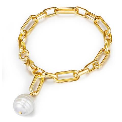 Kaimana Gold/White Pearl Bracelet