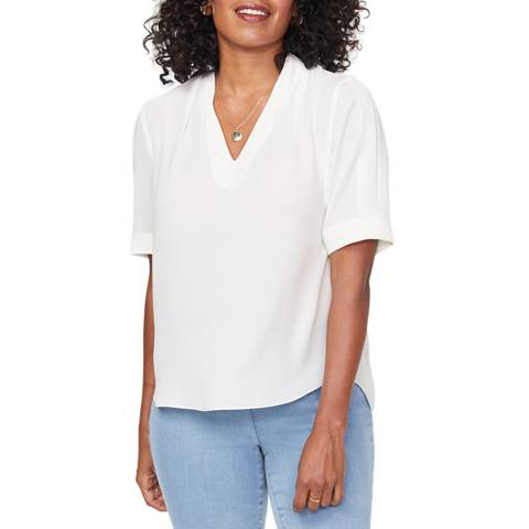 NYDJ White Relaxed Charming Top