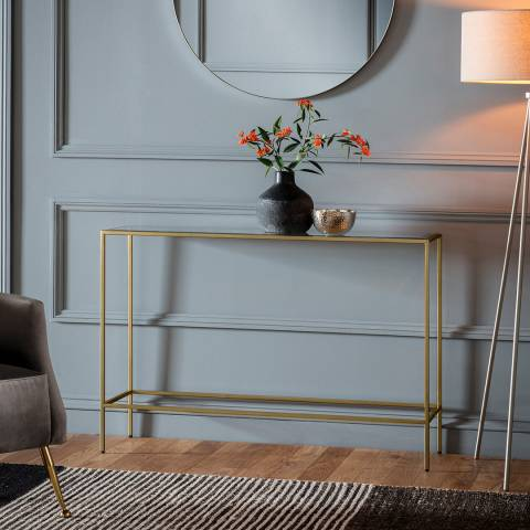 Gallery Rothbury Console Table Champagne