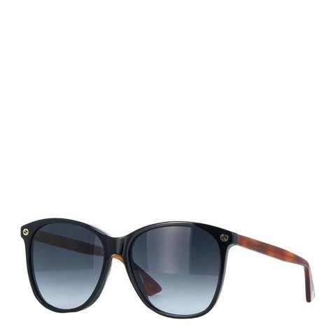 Gucci Women's Black/Brown Gucci Sunglasses 58mm