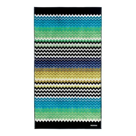 Missoni Home Stan 100x180cm Beach Towel, Turquoise