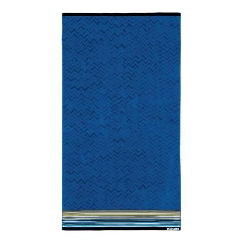 Missoni Home Tex 100x180cm Beach Towel, Blue