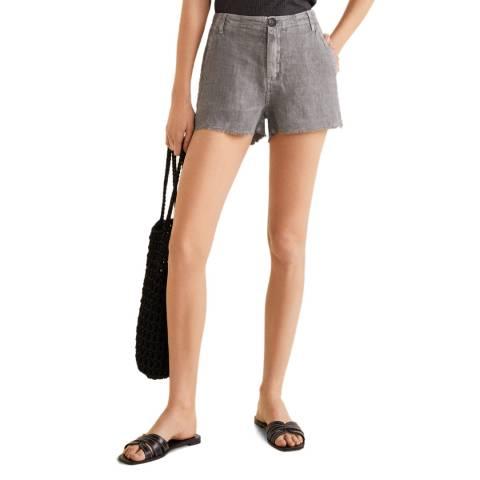 Mango Grey Linen Shorts