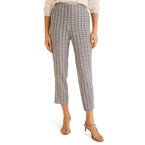 Mango White Linen Suit Trousers