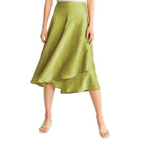 Mango Green Midi Skirt