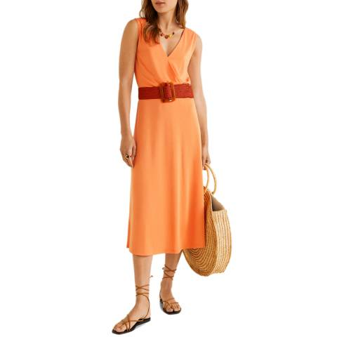 Mango Clementine Midi Modal Dress