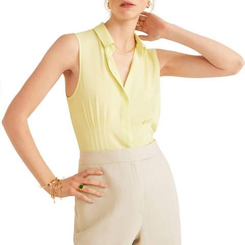 Mango Lime Shirt Collar Top
