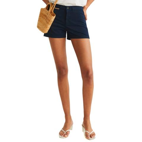Mango Dark Navy Chino Shorts