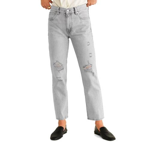 Mango Grey Straight Leg Jeans