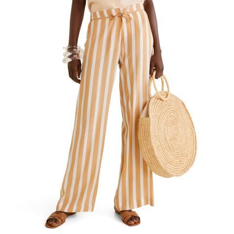 Mango Beige Straight Fit Trouser